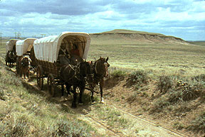 Wagons on the Oregon Trail, Wyoming