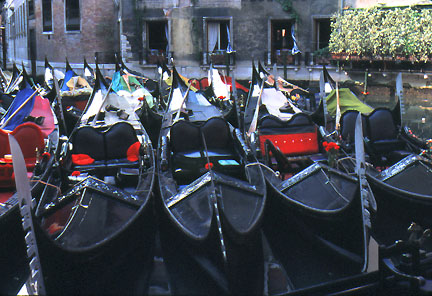 Gondola parking lot, Venice, Italy